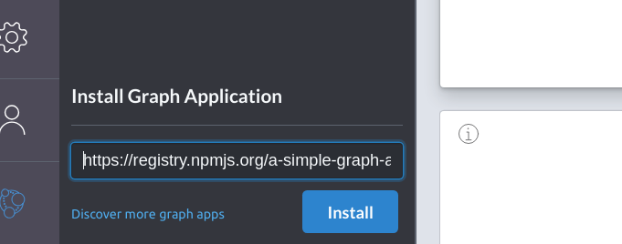 Install graph application from npm