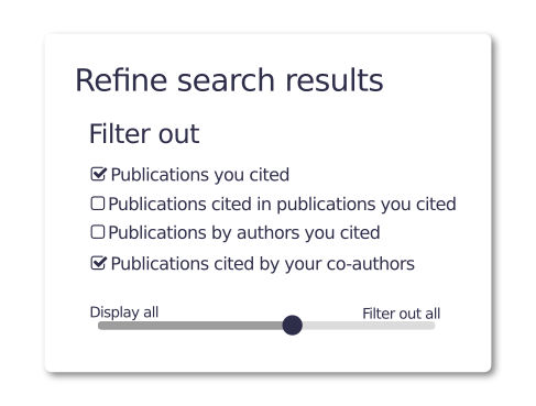 Bibliographic search filter using the NOT recommendation and weak-ties strategies